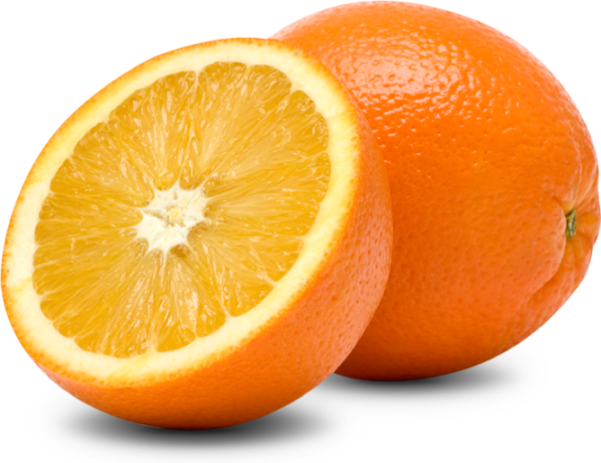 The orange is one of our fruit products
